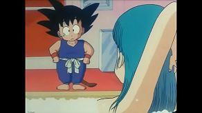 Kreskówka Dragon Ball, gdzie Goku pieprzy bulma